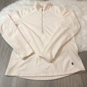 REI Quarter Zip Long Sleeve Pullover Sweater LG